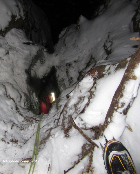 rap station down a bunny hole into a cool ice chimney