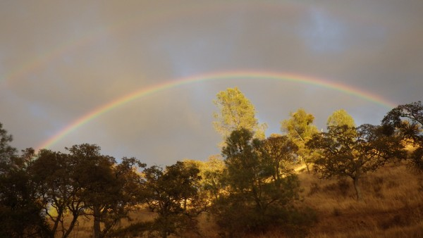 Double rainbow at Henry Coe State Park