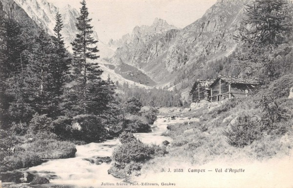 Val d'Arpette. Around year 1900.