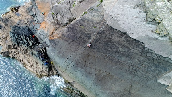 Andrew Walker on the classic Armorican at Craig Caerfai
