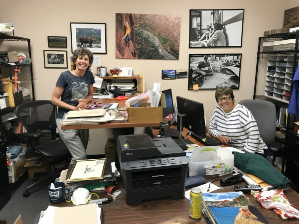 Terri and Val, the creators and caretakers of the Patagonia Archives. ...