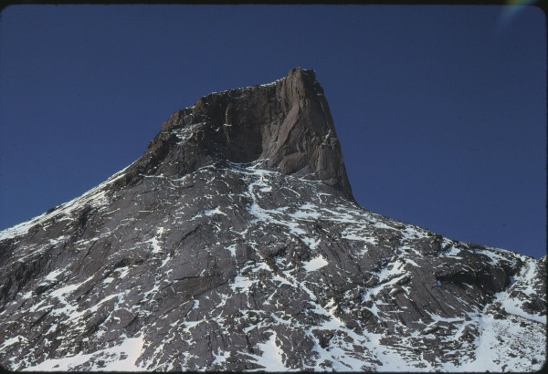 The top 2,000 feet of the 4,000 foot southeast face of Mt. Freya.