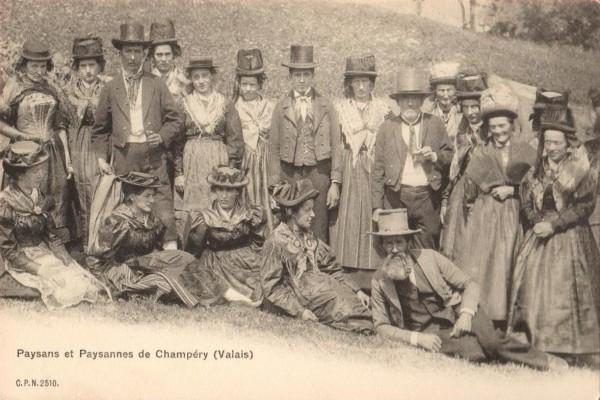 Champery - Paysans et Paysannes