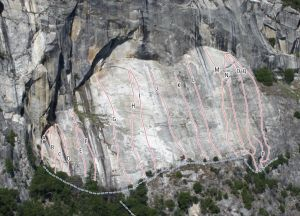 Cookie Sheet - A Route For Robert Whitelaw 5.7 - Yosemite Valley, California USA. Click to Enlarge