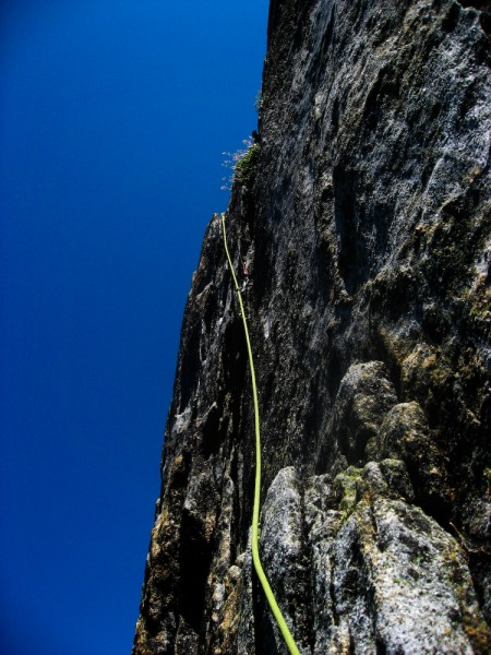 Somewhere around pitch 12/13, I kind of epic-ed on the knob traverse t...