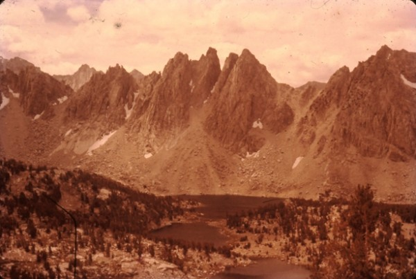 Kearsarge Pinnacles and Lakes. 1957