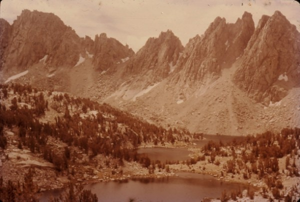 Kearsarge Pinnacles and Lakes. 1957.