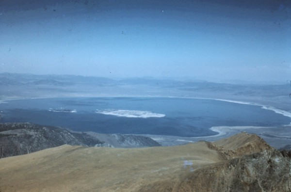Mono Lake from Mt. Dana. 1960.