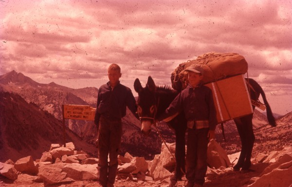 Ken (L.), Dominic, and Philip (R.) on Kearsarge Pass.