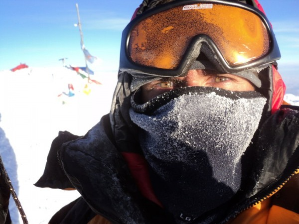 on the summit of Denali, 24 june 2010, 11am