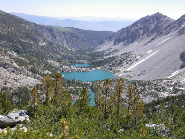Views down the north fork big pine drainage from 11500'