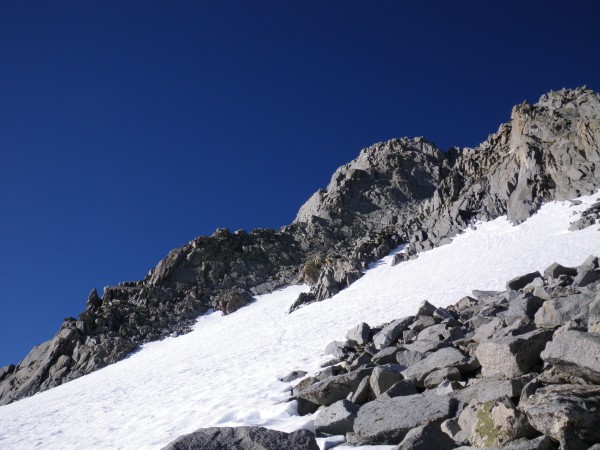 Start of the Swiss Arete, from near Glacier Notch