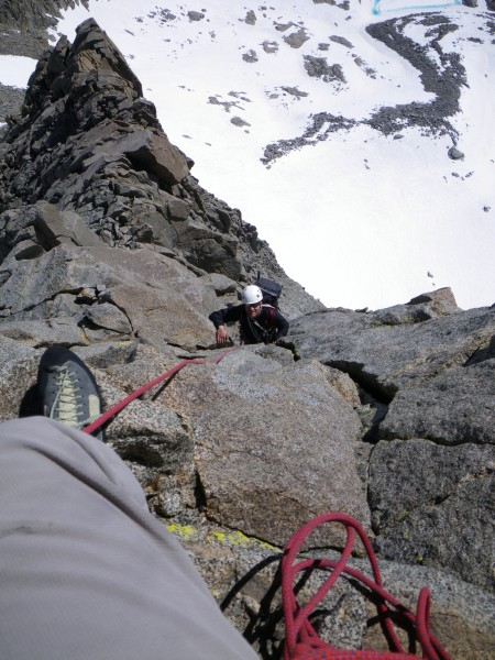 Justin on the Swiss Arete