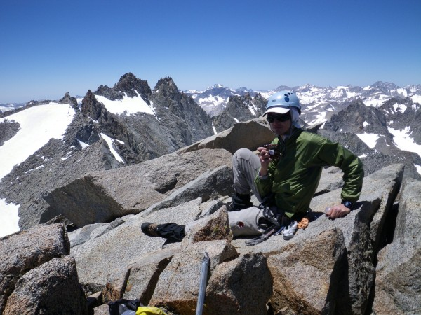 Me on summit of Mt. Sill (14153')
