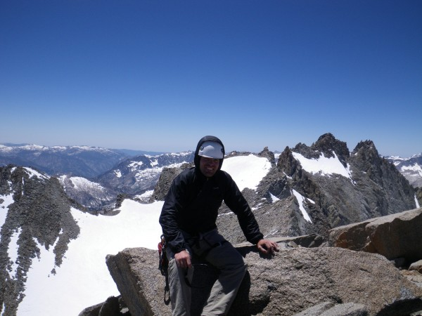 Justin on summit of Mt. Sill (14153')