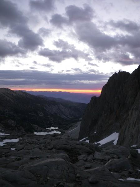 Red dawn at Gayley Camp