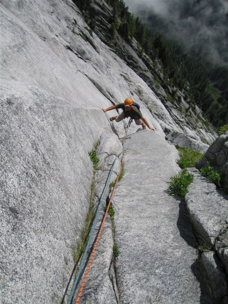 Great moves on the Feature pitch, Slab Daddy, Darrington, WA