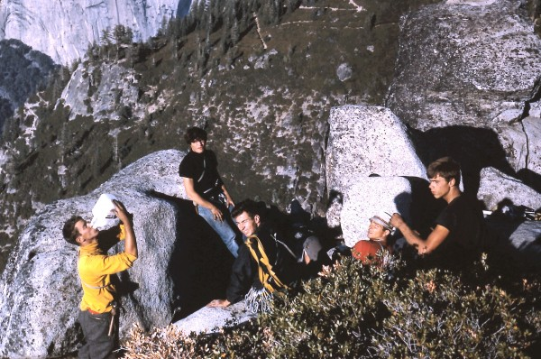 Summit of Sentinel Rock. L. to R.: BowDawg, Kim Schmitz, Conrad Willet...