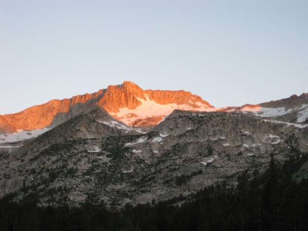Alpenglow on the approach