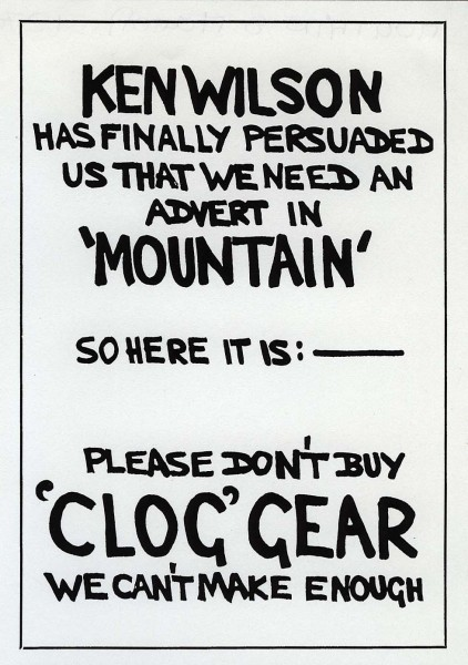 Typical Denny Moorhouse�s humour (from Mountain 8, March 1970)