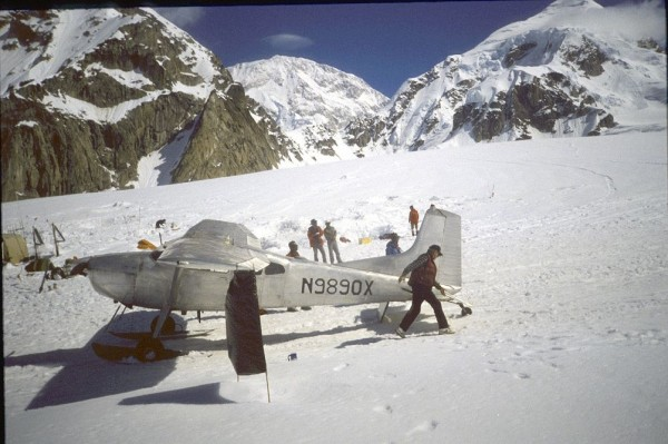 This is Cliff walking around his favorite 185 @ Kahiltna Base Camp. No...