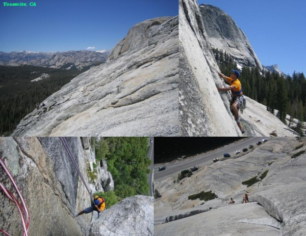 Climbing in Yosemite.