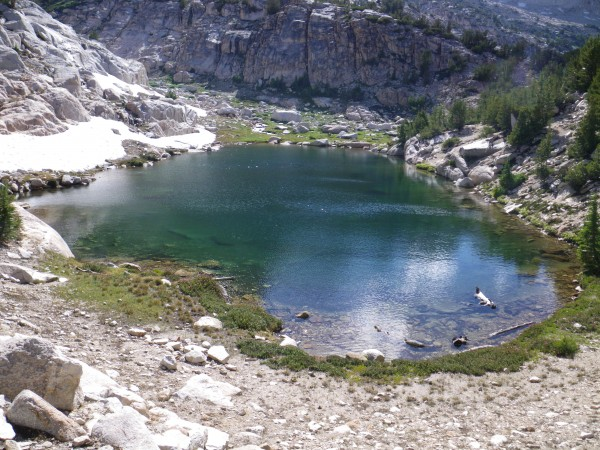 Tarn at 9800' below Matterhorn Peak