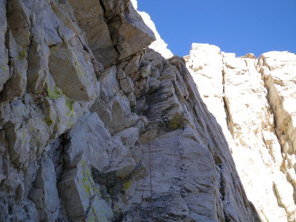 First pitch of North Arete (5.6) -- Justin's lead