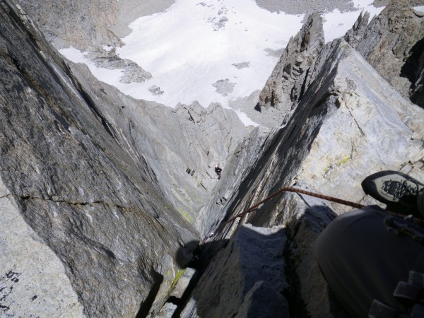 Looking down pitch six