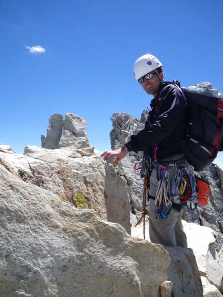 Justin getting ready to lead the fourth class traverse from the North ...