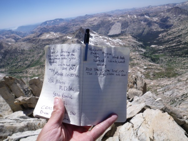 Summit register :)