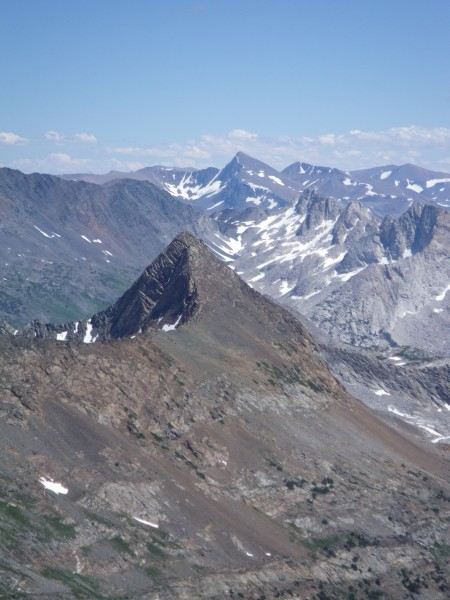 Mt. Dana in background, Virginia Peak in foreground, from the summit