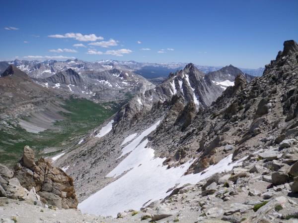 Whorl Mountain, from the exit of the east couloir
