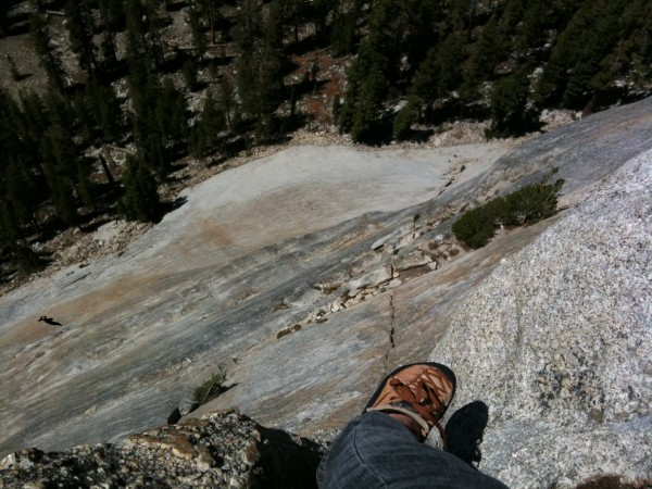 Belaying on the Direct Face of Lembert Dome