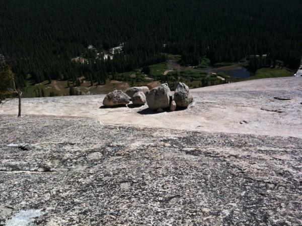 Boulders atop Lembert Dome