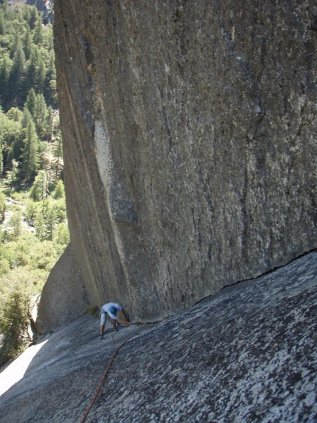 Almost to the belay, not a great climb for an already tweaked back.