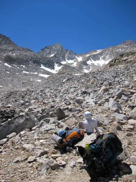 Me in the talus between Gem Lakes and Dade Lake