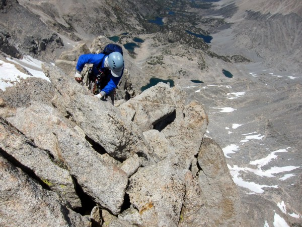 Me scrambling on ridge
