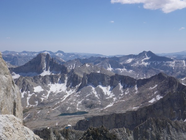 Feather Peak (13240') from near summit (center left)