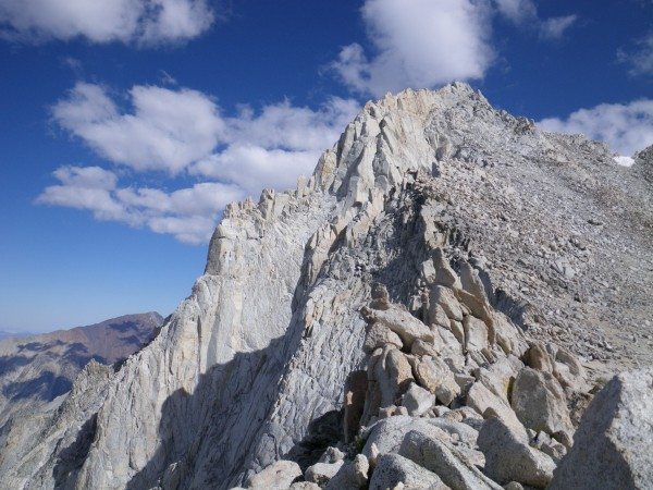 North Arete in profile, from the ridge