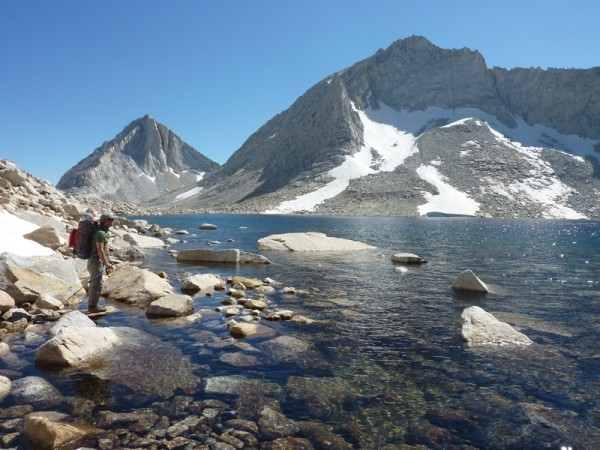 Arriving at Royce Lakes 11,750'. We climbed Merriam Peak's North Buttr...