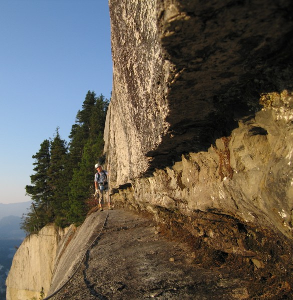 Bellygood Ledge, Squamish BC.  This is where you could make a big red ...
