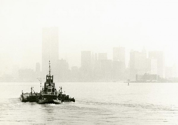 New York Harbor from the Staten Island Ferry, 1972.