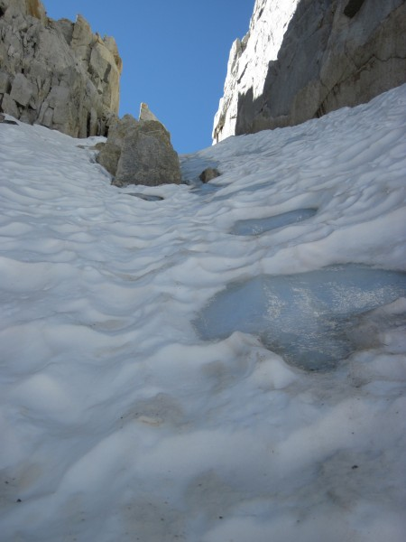 Icy patch on North Peak - 8/3/10