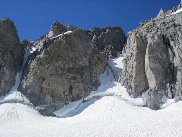Couloirs looking better than 2 years ago - 8/5/10