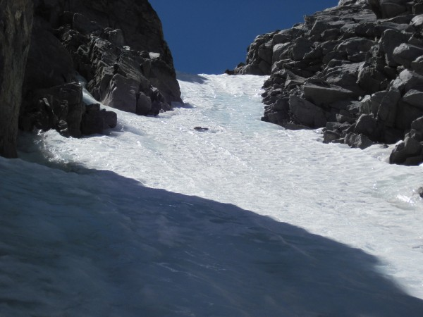 Almost icy towards the top of U Notch - 8/5/10