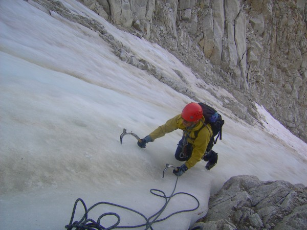 great ice in the upper part of the Coulior