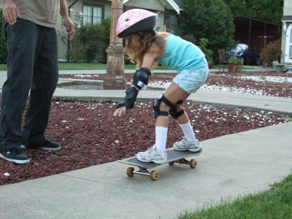 6 year old Hana learning to shred.