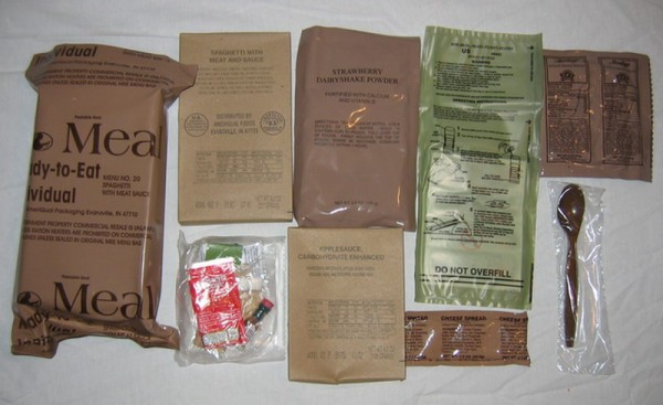 "MRE's: The secret to wall-climbing success! Just ""field-strip"" out any..."