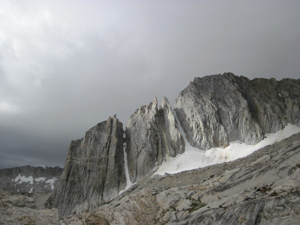 North Peak with its 3 couloirs - 9/8/10